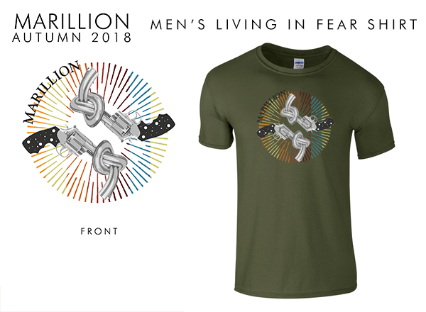 2018 Men's Military Green Living In FEAR T-Shirts
