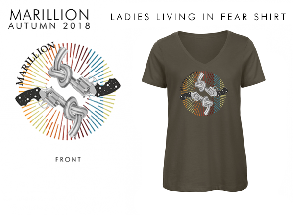 2018 Ladies Khaki Living In FEAR T-Shirts